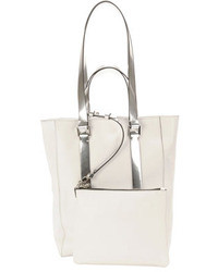CNC Costume National Costume National Leather North South Mini Tote Bag Whitegray
