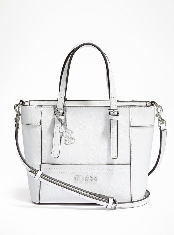 GUESS Delaney Mini Tote, $65 | GUESS | Lookastic.