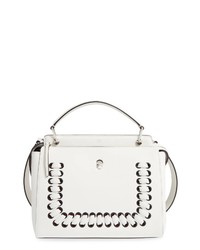 Fendi Dotcom Lace Up Leather Satchel