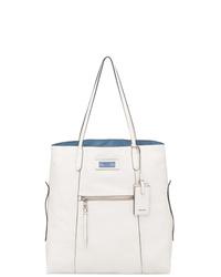 d5c91c1b633cf2 Women's White Leather Tote Bags by Prada   Women's Fashion ...