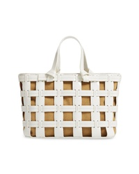 Trademark Frances Cage Leather Canvas Tote