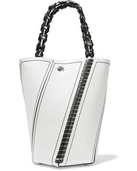 Proenza Schouler Hex Medium Paneled Leather Tote White