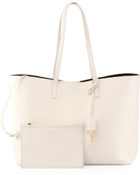 Saint Laurent Large Shopping Tote Bag White