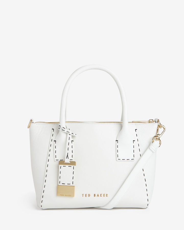 White Leather Tote Bags Ted Baker Lauren Small Bag