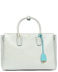 MCM Large Milla Leather Tote White