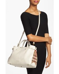 0c64f7f101 Burberry Medium Banner House Check Leather Tote, $1,295 | Nordstrom ...