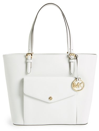 8508b0631cca ... MICHAEL Michael Kors Michl Michl Kors Jet Set Large Saffiano Leather  Snap Pocket Tote ...