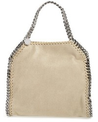 Mini falabella shaggy deer faux leather tote medium 5264645