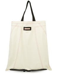 Marni Packable Cotton And Leather Tote
