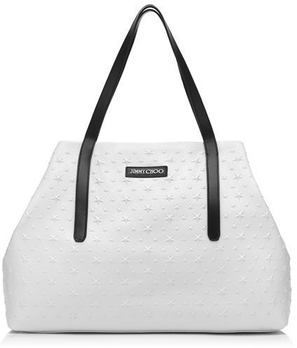 Jimmy Choo Pimlico Grainy Leather Tote Bag With Embossed Stars