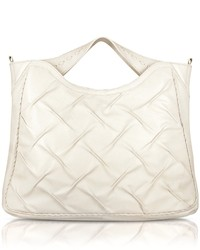 Fontanelli Pleated Nappa Leather Tote Bag