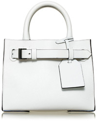 Reed Krakoff Rk40s Small Belted Leather Tote Bag White