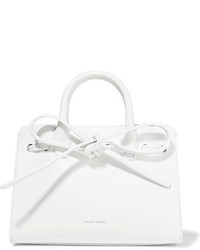Mansur Gavriel Sun Mini Mini Leather Tote White