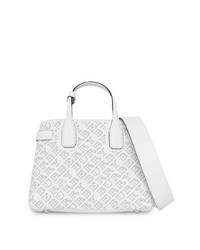 Burberry The Small Banner In Perforated Logo Leather