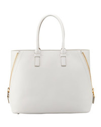 Tom Ford Jennifer Trap Calfskin Tote Bag White