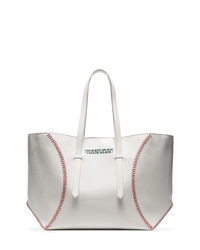 Calvin Klein 205W39nyc White Catch Baseball Glass Leather Tote