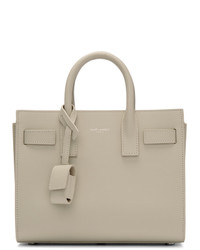 Saint Laurent White Nano Sac De Jour Tote