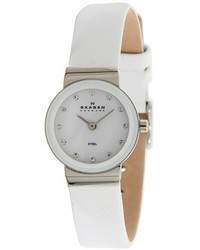Skagen 358xsslww Leather Steel Watch