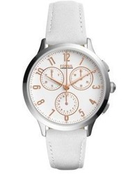 Fossil Abilene Leather Strap Watch