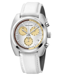 Calvin Klein Achieve Chronograph Leather Band Watch