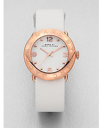 Marc by Marc Jacobs Amy Rose Goldtone Stainless Steel Leather Watch