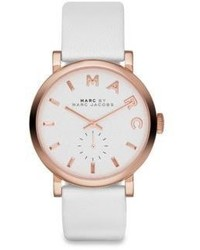 Marc by Marc Jacobs Baker Rose Goldtone Stainless Steel Leather Strap Watch