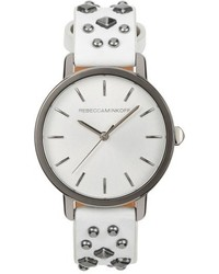 Rebecca Minkoff Bffl Studded Leather Strap Watch 36mm
