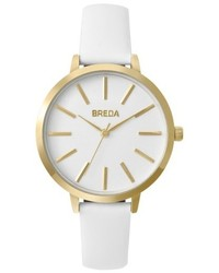 Breda Joule Round Leather Strap Watch 37mm