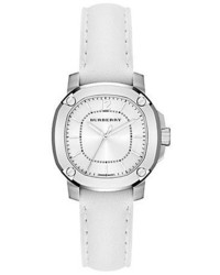 Burberry Britain Stainless Steel Leather Watchwhite