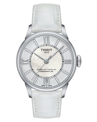 Tissot Chemin Des Tourelles Diamond Leather Watch