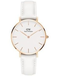 Daniel Wellington Classic Petite Bondi Rose Gold And Leather Strap Watch 32mm