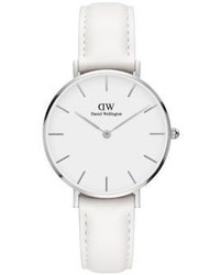 Daniel Wellington Classic Petite Bondi Silver And Leather Strap Watch 32mm
