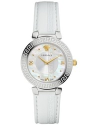 Versace Daphnis Leather Strap Watch 35mm