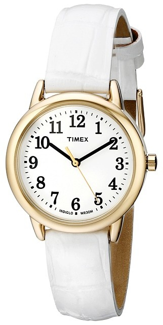Timex Easy Reader Croco Pattern Leather Strap Watch Watches