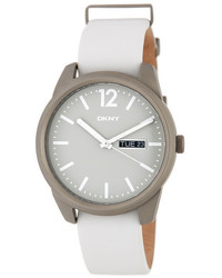 DKNY Gansevoort Leather Strap Watch
