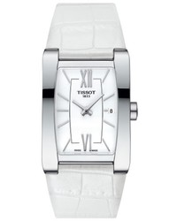 Tissot Generosi T Rectangular Leather Strap Watch 27mm X 24mm