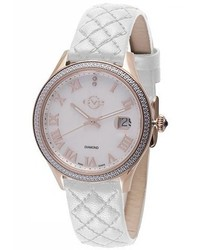 Gv2 Gv2 Asti Iprg Mop White Leather Watch