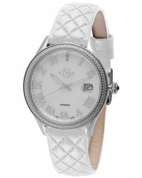Gv2 Gv2 Asti Mop White Leather Watch
