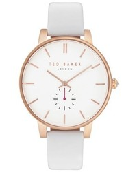 Ted Baker London Olivia Round Leather Strap Watch 40mm