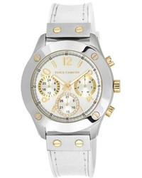 Vince Camuto Multifunction Leather Strap Watch 42mm