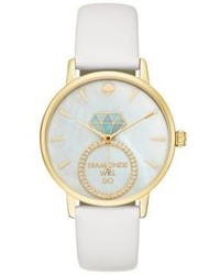 Kate Spade New York Idiom Metro Leather Strap Watch