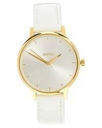 Nixon Kensington White Patent Leather Watch