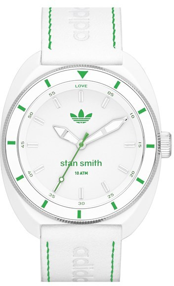 superior quality a3370 46f75 ... adidas Originals Stan Smith Leather Strap Watch 42mm ...