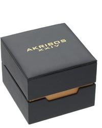 Akribos XXIV Ornate Artistic Leather Watch