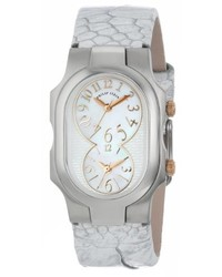 Philip Stein Teslar Philip Stein 1 Moprg Omw Signature Stainless Steel Watch With Leather Band