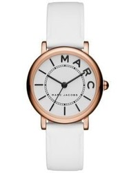 Marc Jacobs Roxy Rose Goldtone Stainless Steel And Leather Three Hand Strap Watch