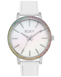 Roxy The Bells Round Leather Strap Watch 37mm