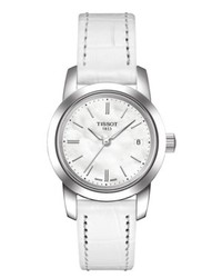Tissot Watch White Leather Strap T0332101611100