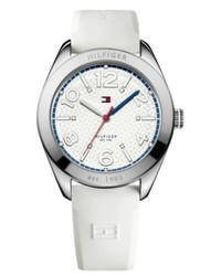 Tommy Hilfiger Watch White Leather Strap 40mm 1781255
