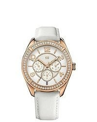 Tommy Hilfiger White Leather Ladies Watch 1781251